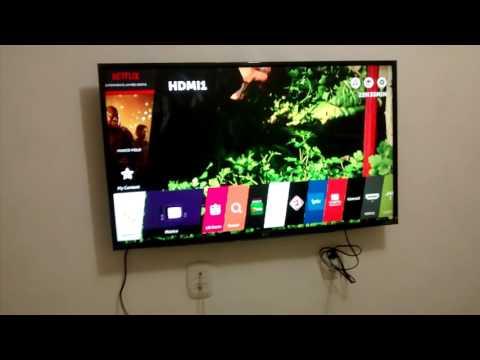 Mostrando a Smart TV LG 43UH6100, 4K
