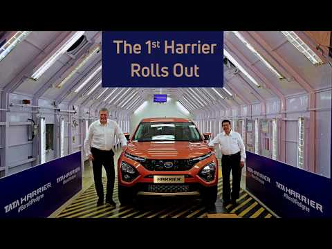 The 1st Tata Harrier rolls out from its all- new assembly line in Pune