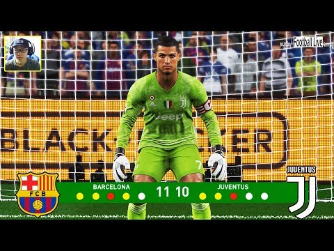 PES 2019 | Goalkeeper L.MESSI Vs Goalkeeper C.RONALDO | Penalty Shootout | Barcelona Vs Juventus