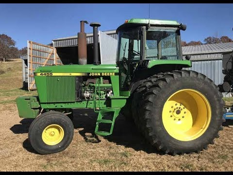 1991 John Deere 4455 2WD with 3826 Hours Sold on Missouri Farm Auction Yesterday