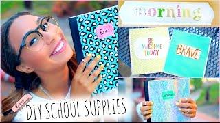 DIY School Supplies! + Back To School Room Decorations | MyLifeAsEva