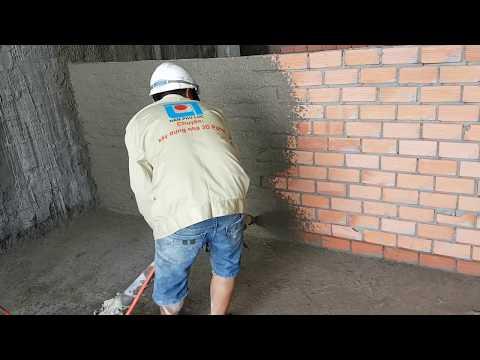 Phun vữa tô tường rất chuyên nghiệp và quá hiệu quả