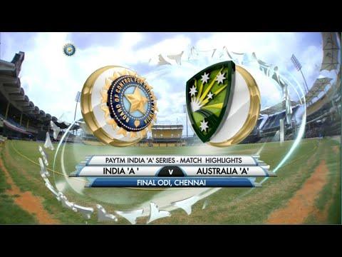 India A vs Aus A   Final ODI Match highlights || India vs Australia full match highlight ||