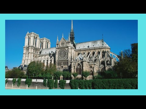 PARIS, outside views of the magnificent NOTRE DAME CATHEDRAL (FRANCE)