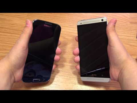 screen - Unboxing the S4, giving impressions, showing comparisons with HTC One and discussing screen quality, along with black clipping. Also showing some case option...