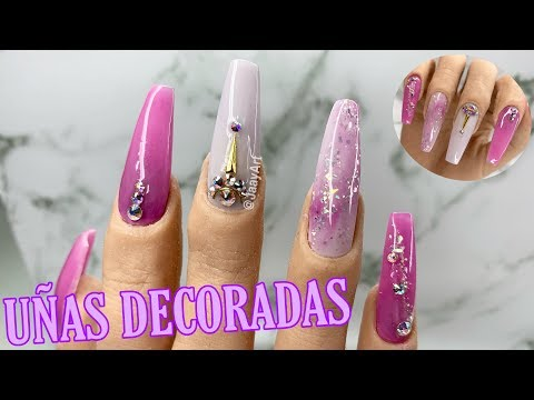 Uñas decoradas - UÑAS DECORADAS ROSAS  / Uñas de acrílico