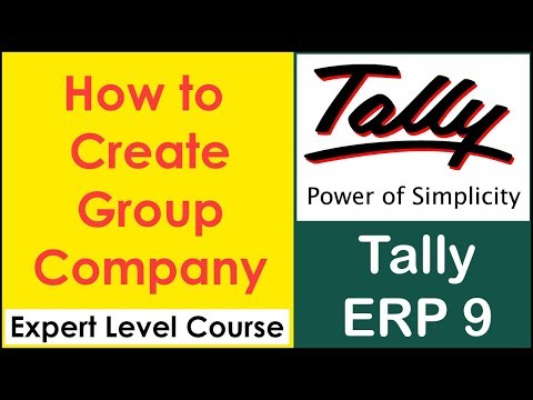 Group Company | How to Merge Multiple Companies Together in tally ERP