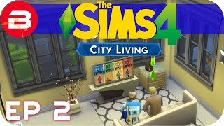 Sims 4 City Living Gameplay - PARRRRTY ENTERTAINER!! #2 (Let's Play Sims 4 City Living)