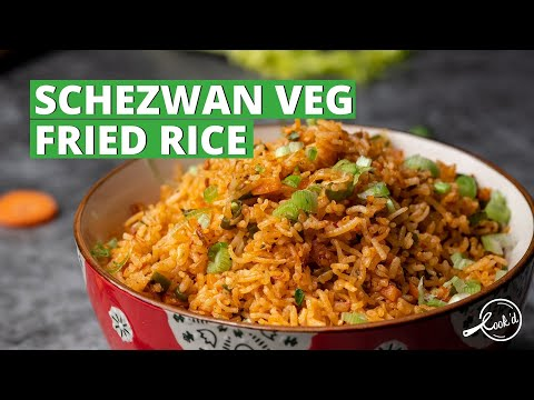 Schezwan Veg Fried Rice | Spicy Chinese Fried Rice | Vegetarian Recipes | Cookd