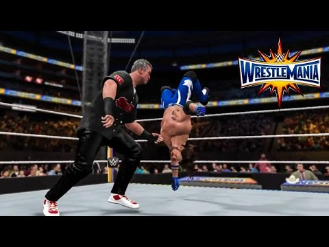 WWE 2K17 WrestleMania 33 AJ Styles vs Shane McMahon | Prediction Highlights