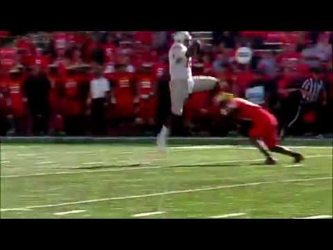 Cardale Jones hurdles defender vs Maryland 2014 video.