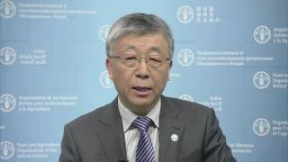 Message of Dr Ren Wang, FAO Assistant Director General, Agriculture and Consumer Protection Department, recorded in ...