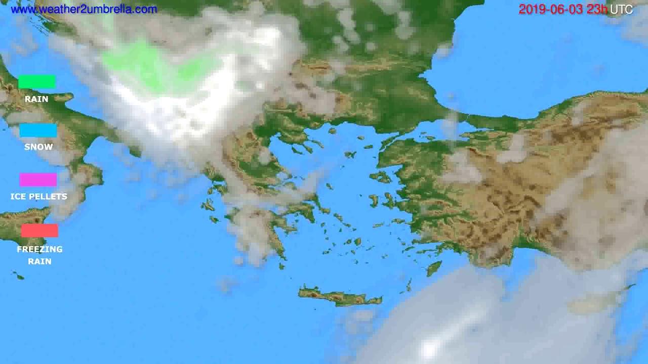 Precipitation forecast Greece // modelrun: 12h UTC 2019-05-31