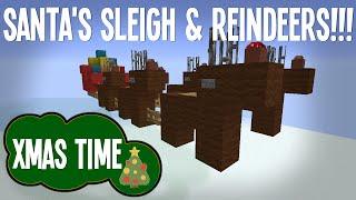 Minecraft - Santa's Sleigh&Reindeers