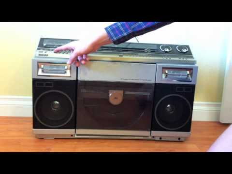 Vintage Boombox With Vertical Turntable Boing Boing