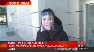 Maske Ve Eldivenler İçin Tıbbi Atık Kutuları Yerleştirdik - Cnn Türk
