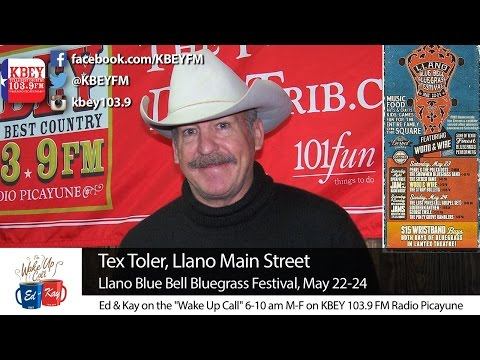 Tex Toler talks Llano Blue Bell Bluegrass Festival