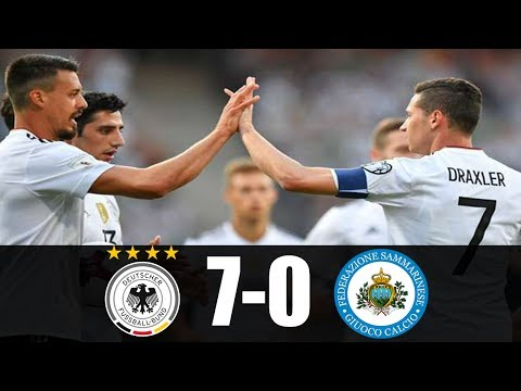 Germany vs San Marino 7-0 All Goals & Highlights 10/06/2017 World Cup Qualification 2018 HD
