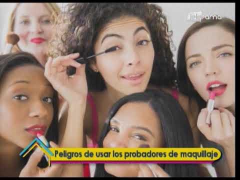 Peligros de usar los probadores de maquillaje