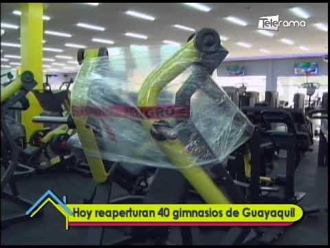 Hoy reaperturan 40 gimnasios de Guayaquil