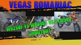 9. Yamaha WR450F vs WR250F vs KTM520 ShootOut