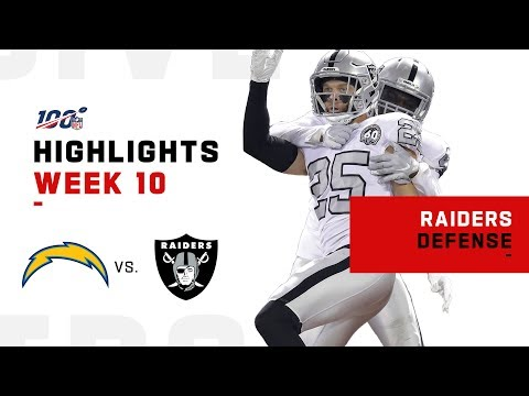 Raiders Defense Smothers Chargers w/ 5 Sacks & 3 INTs   NFL 2019 Highlights