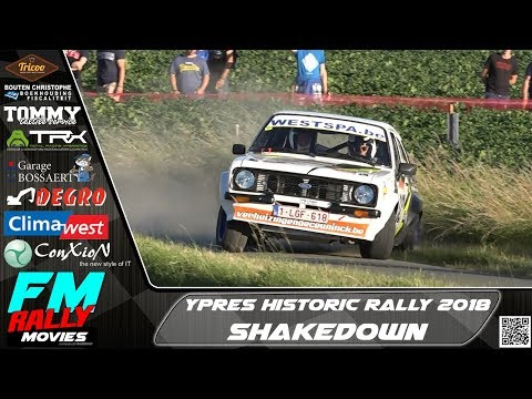 Ypres Historic rally 2018 | SHAKEDOWN | Show & Spin [HD]