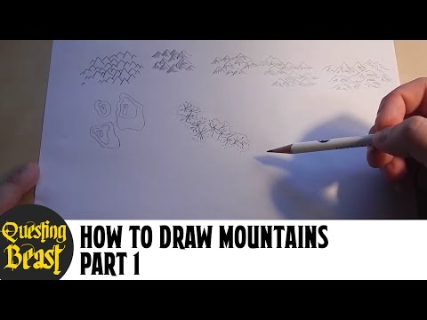 How to Draw Mountains - Part 1: Fantasy Map Making Tutorial for DnD