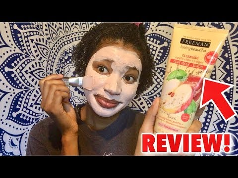 Freeman 4 in 1 Apple Cider Vinegar Clay Mask & Scrub Review   Mask Monday
