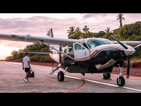 Private plane from Soneva Kiri to Bangkok: take-off & spectacular nighttime landing