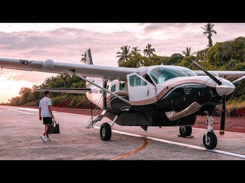 Private plane from Soneva Kiri to Bangkok: take-off & spectacular nighttime landing