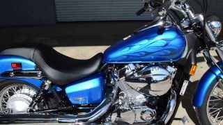 6. 2014 Shadow Spirit 750 SALE / Honda of Chattanooga - Metallic Blue VT750C2 Flames