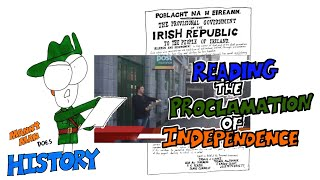 I read the Proclamation of Independence in front of the Letterkenny Post Office on Easter Monday 2016 at 12.45pm to mark the centenary of the Easter Rising.  (I'll probably do it again on April 24th)Thanks to Kiernan for intro, camerawork and editing!