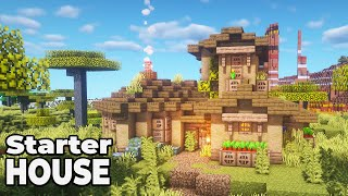 How to build an Awesome Wooden House in Minecraft 1.15 [STARTER HOUSE]