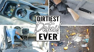 Video Cleaning The Dirtiest Car Interior Ever! Complete Disaster Full Interior Car Detailing A Ford Escape MP3, 3GP, MP4, WEBM, AVI, FLV Juli 2019