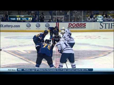 Shot - Jaden Schwartz wrist shot goal 2-0 Toronto Maple Leafs vs St. Louis Blues 12/12/13 NHL Hockey. 1ST PERIOD 12:59 STL Jaden Schwartz (8) Wrist shot - ASST: Vla...