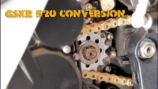 8. 2011-14 GSXR 600 L1 - 520 Chain and Sprocket Conversion
