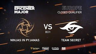 NiP vs Team Secret, EPICENTER Major 2019 EU Closed Quals , bo1 [GodHunt & Inmate]