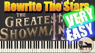 Video 🎵 VERY EASY Rewrite The Stars - The Greatest Showman [Piano Tutorial] (Synthesia) HD Cover MP3, 3GP, MP4, WEBM, AVI, FLV Januari 2018