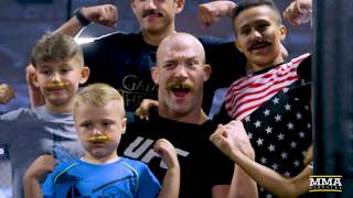 Patrick Cummins wrestled some youngsters and showed off his mustache prowess Thursday at the UFC on FOX 25 open workouts in New York.Subscribe: http://goo.gl/dYpsgHCheck out our full video catalog: http://goo.gl/u8VvLiVisit our playlists: http://goo.gl/eFhsvMLike MMAF on Facebook: http://goo.gl/uhdg7ZFollow on Twitter: http://goo.gl/nOATUIRead More: http://www.mmafighting.comMMA Fighting is your home for exclusive interviews, live shows, and more for one of the world's fastest-growing sports. Get latest news and more here: http://www.mmafighting.com