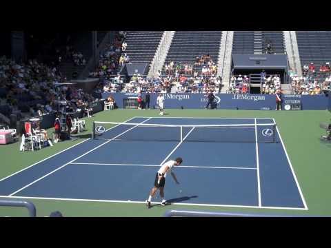 Philipp Kohlschreiber y Radek Stepanek en el US Open 2009