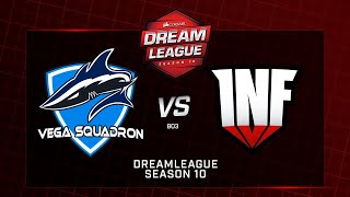 Vega Squadron vs Infamous, DreamLeague Minor, bo3, game 1 [Godhunt & Lex]