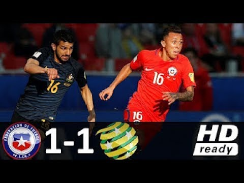 Chile vs Australia 1-1 - All Goals & Highlights - 25/06/2017 HD