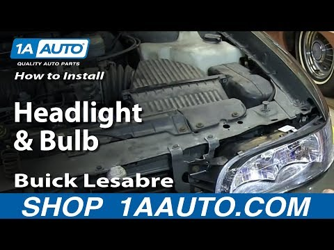 How To Install Change Headlight and Bulb 1997-99 Buick Lesabre