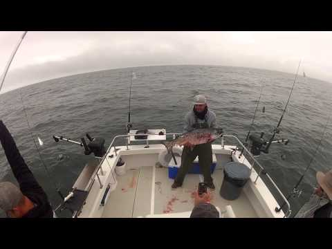 North Cal Sportfishing - 2013 Jeff with a 28 lb Salmon Fishing on