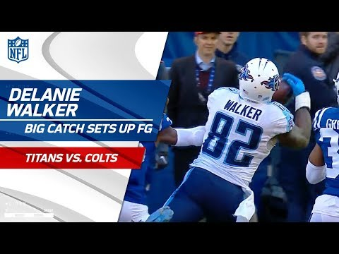 Video: Delanie Walker Beats Triple Coverage for Great Grab to Set Up FG! | Titans vs. Colts | NFL Wk 12