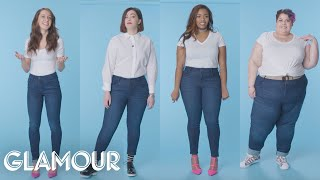 Video Women Sizes 0 Through 28 Try on the Same Jeans | Glamour MP3, 3GP, MP4, WEBM, AVI, FLV Maret 2018