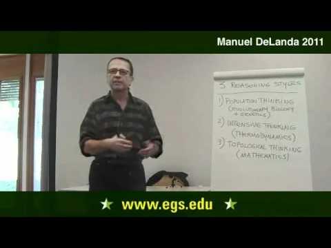 Manuel DeLanda. Deleuze, Morphogenese und Bevölkerung Thinking. 2011