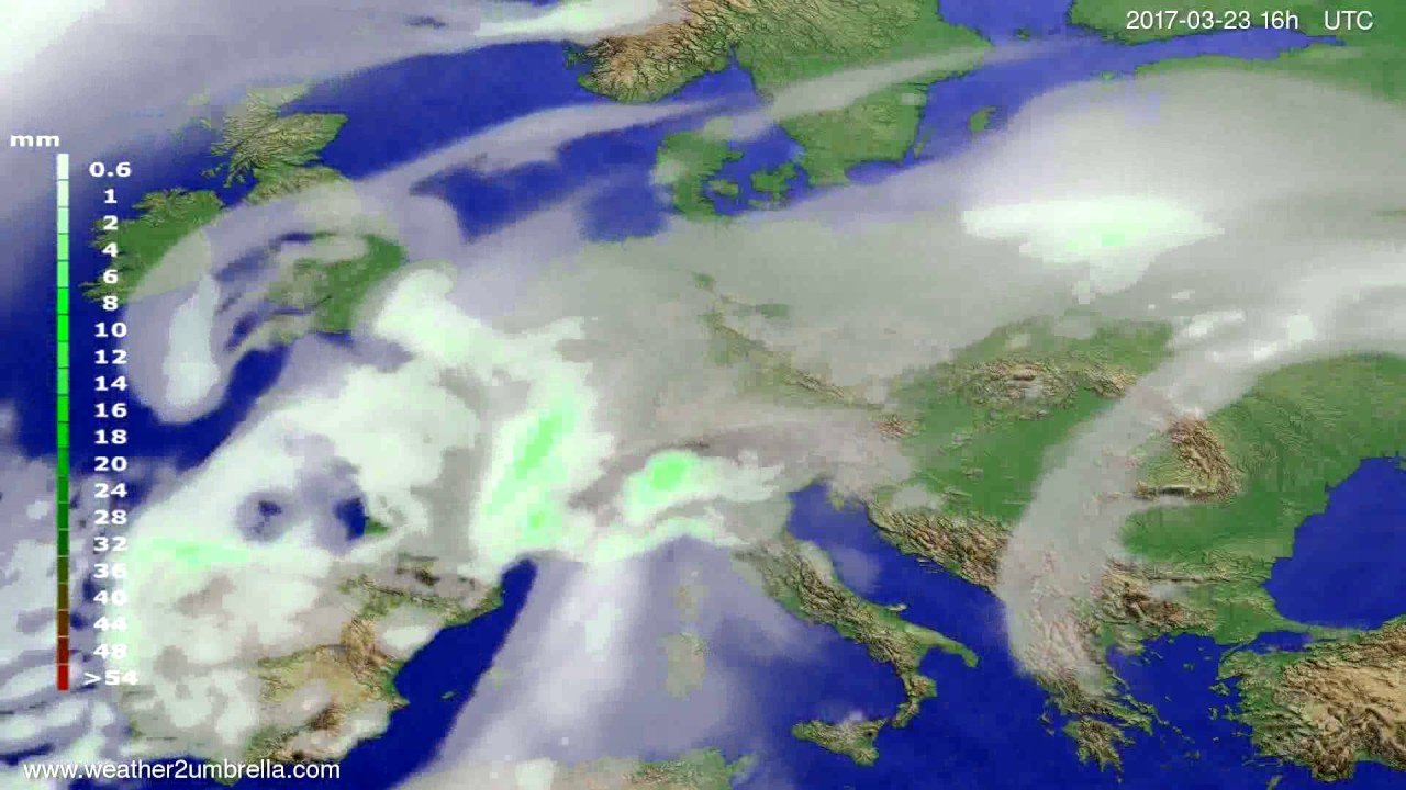 Precipitation forecast Europe 2017-03-20