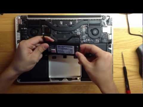, title : '2012 13-inch Retina MacBook Pro SSD upgrade video top view'
